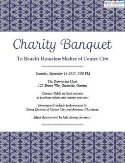 charity banquet invitation