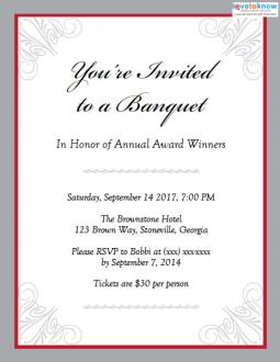 Banquet invitations banquet invitation stopboris Choice Image