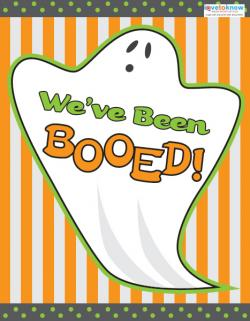 Ghost design We've been Booed printable