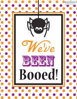 Spider design We've Been Booed printable