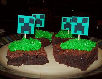 Grass Block Cake
