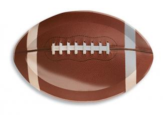 Football shaped plastic tray
