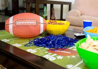 Football party decor