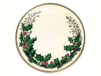 Holly Paper Plates