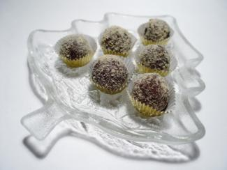 Dish of truffles