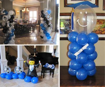 Unique graduation party ideas lovetoknow for Balloon decoration ideas for graduation
