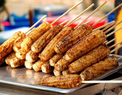 Freshly Grilled Corn Cobs