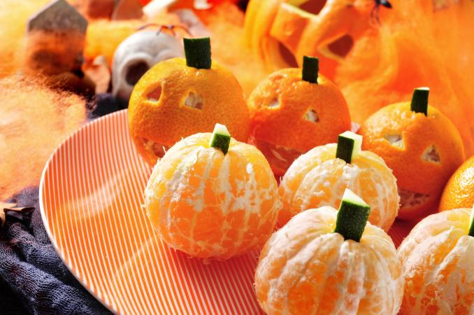 Pumpkin oranges and Jack-O-Lanterns