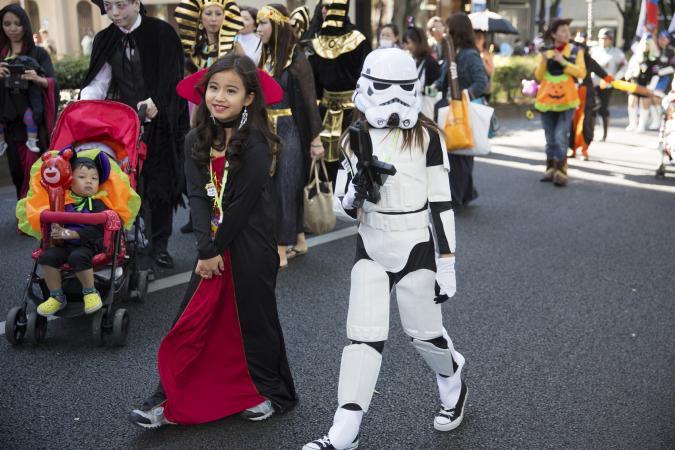 Kid Halloween parade
