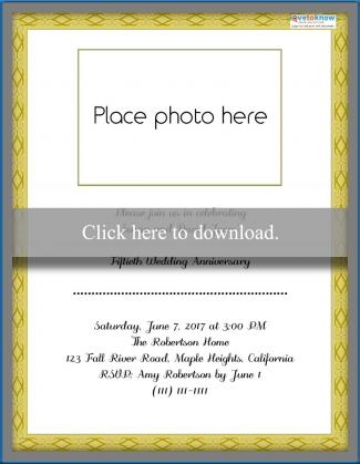Printable 50th Anniversary Invitations Lovetoknow