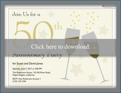 Printable 50th anniversary invitations printable 50th anniversary invitation stopboris