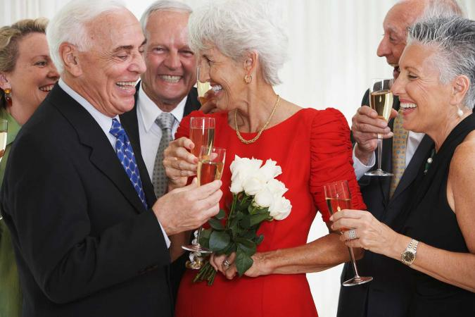 Couple celebrating 50th anniversary