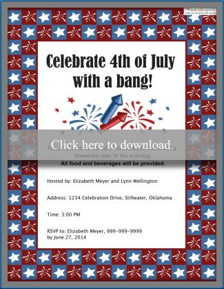 Customizable 4th of July Party Invitation