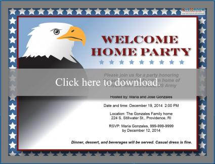 Customizable Military Welcome Home Party Invitation