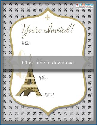 Eiffel Tower invite