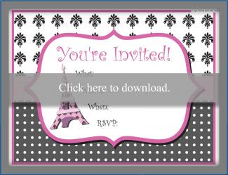 Paris Themed Party Invitations Lovetoknow