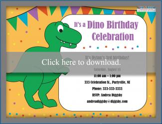 Dinosaur birthday party invitations lovetoknow dinosaur birthday party invite stopboris Images
