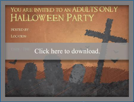 photograph regarding Free Printable Halloween Invitations for Adults called Grownup Halloween Occasion Invites LoveToKnow