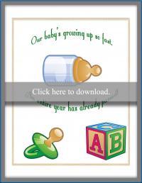 bottle themed invitation