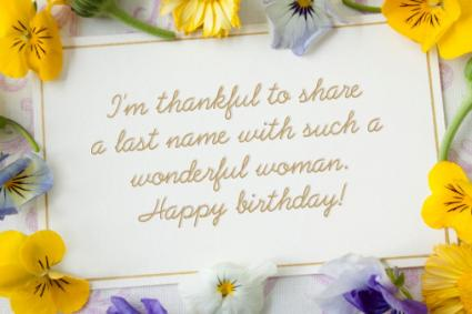 I'm Thankful Birthday Card for Mother-in-Law