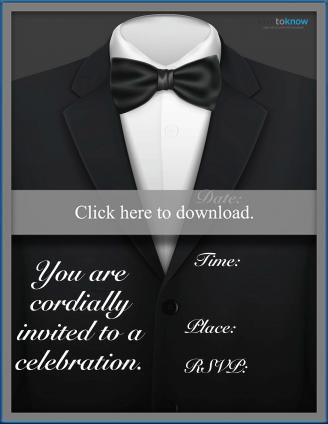 Tuxedo party invitation