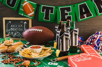 Game day football party table
