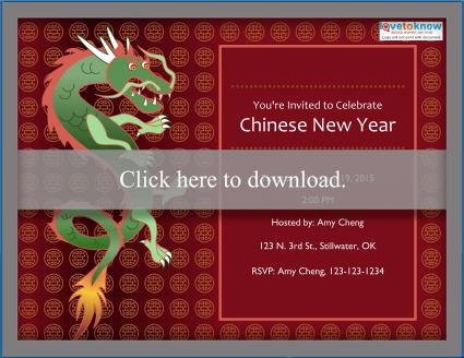 Chinese New Year Invitation