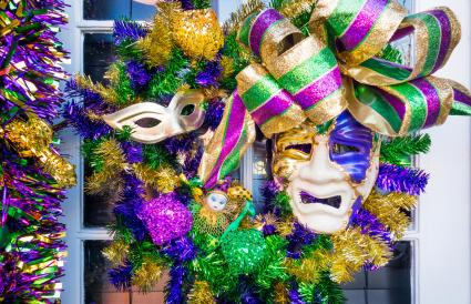Mardi Gras Mask in New Orleans