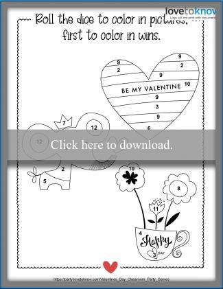 Coloring Game for Valentine's Day