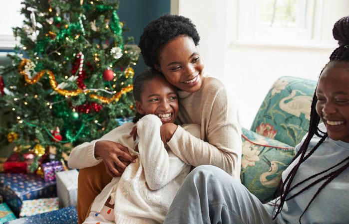 small family Christmas celebration