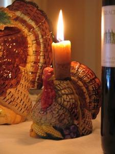 Turkey candleholder