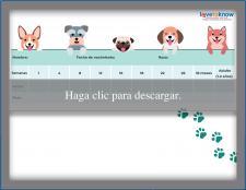 Tabla de peso para cachorros