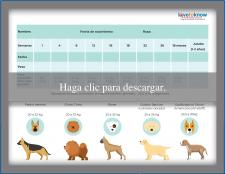 Tabla para el peso del cachorro razas grandes