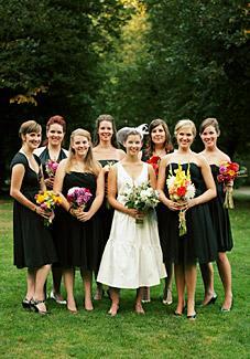 Wedding group pose