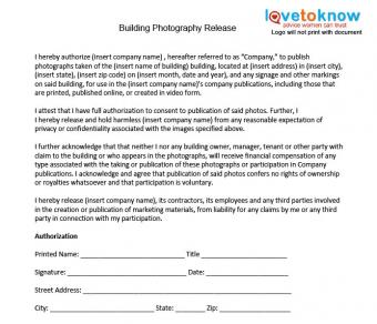Download a Building Photo Release