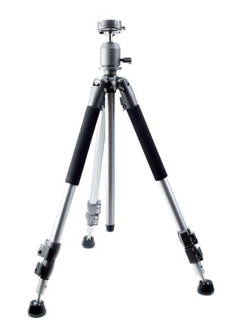 Photo tripod with rubber feet