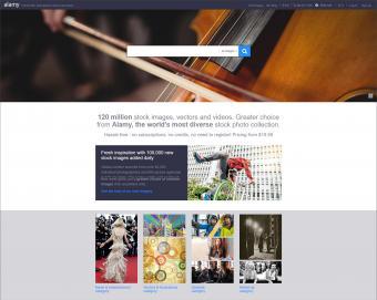 Alamy homepage screenshot