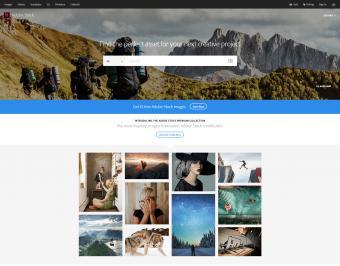 Adobe Stock homepage screenshot
