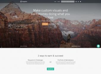 Screenshot of Snapwire homepage