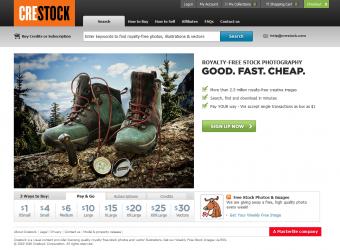 Crestock homepage screenshot