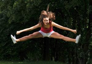 Cheerleading Action Photography
