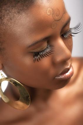 Head shot of female model