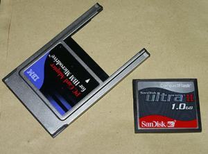 Compact Flash Card and PC Card Adapter