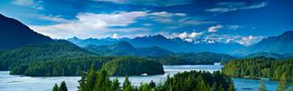 Panoramic view of Tofino Vancouver Island Canada