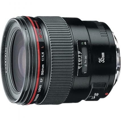 Canon EF 35mm f/1.4L wide angle lens