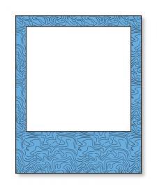 Blue Polaroid