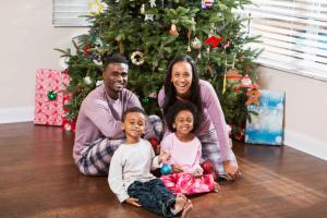 Family portrait in PJs