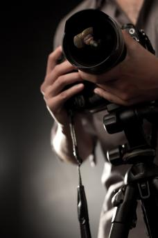 Camera with professional lens