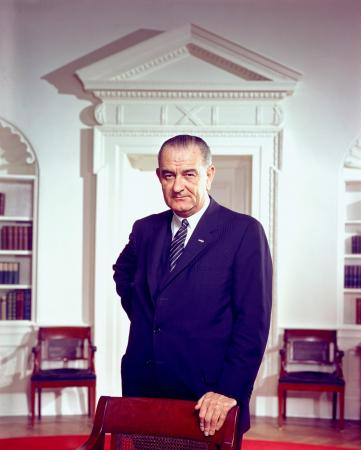 Portrait of Lyndon B Johnson by Arnold Newman