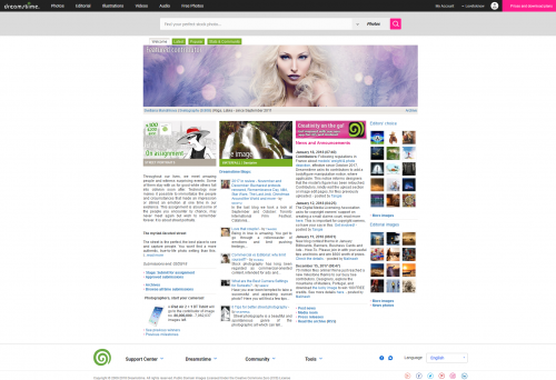 Dreamstime homepage screenshot